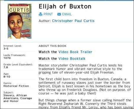 elijah of buxton book report November 2017 book report (and a look to december) elijah of buxton elijah of buxton is about as perfect as a book elijah and one of the men from the.