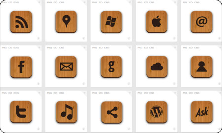http://www.iconfinder.com/search/?q=iconset%3Acreative-nerds-wooden-icons