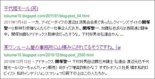 http://www.google.co.jp/search?hl=ja&safe=off&biw=1145&bih=939&q=site%3Atokumei10.blogspot.com+&btnG=%E6%A4%9C%E7%B4%A2&aq=f&aqi=&aql=&oq=#hl=ja&safe=off&sclient=psy-ab&q=site:tokumei10.blogspot.com+%E9%96%A2%E5%A1%9A%E8%81%96%E4%B8%80&psj=1&oq=site:tokumei10.blogspot.com+%E9%96%A2%E5%A1%9A%E8%81%96%E4%B8%80&aq=f&aqi=&aql=&gs_sm=12&gs_upl=3587l3587l0l4348l1l1l0l0l0l0l130l130l0.1l1l0&bav=on.2,or.r_gc.r_pw.r_qf.,cf.osb&fp=5e3877e37b5c4a46&biw=1033&bih=1079