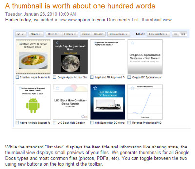 http://googledocs.blogspot.com/2010/01/thumbnail-is-worth-about-one-hundred.html