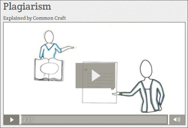 http://www.commoncraft.com/video/plagiarism