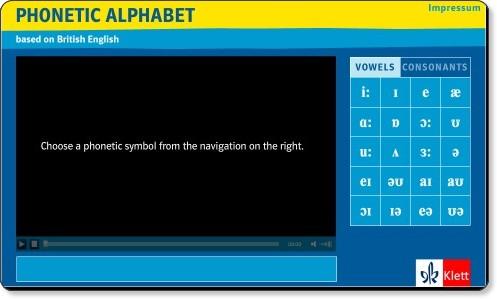 http://www.klett.de/software/flash/phonetisches_alphabet_englisch/PhonetischesAlphabet_web_v2.html