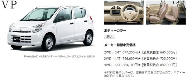 http://www.suzuki.co.jp/car/alto_van/price/index.html