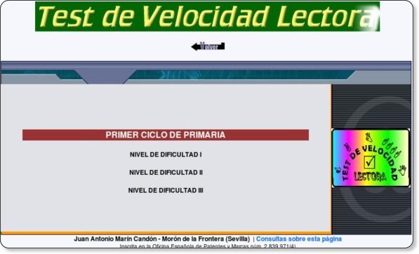 http://www.reglasdeortografia.com/testvelocidad01.html