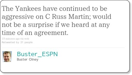 http://twitter.com/Buster_ESPN/statuses/14350059009216513