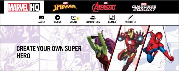 http://www.marvelhq.com/create-your-own-super-hero