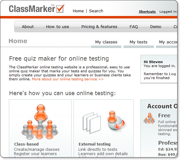 http://www.classmarker.com/