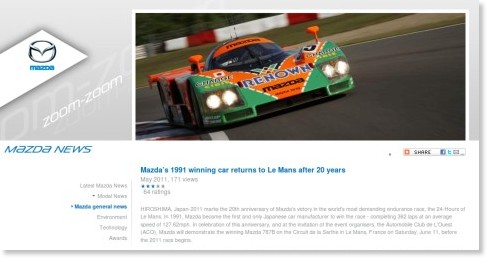 http://www.mazda.co.uk/aboutmazda/mazdanews/mazda_corporate/mazdas-1991-winning-car-returns-to-le-mans-after-20-years/