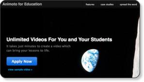 http://animoto.com/education