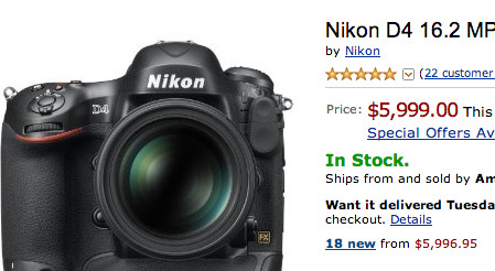 http://www.amazon.com/Nikon-16-2-Digital-1080p-Video/dp/B006U49XM6/ref=sr_1_1?ie=UTF8&qid=1350184060&sr=8-1&keywords=Nikon+d4
