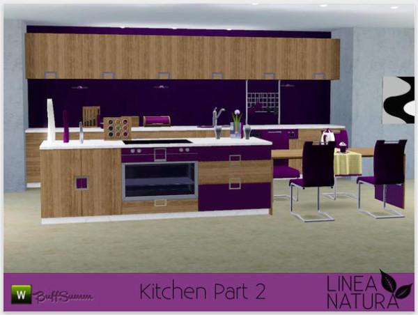 LINEA NATURA Kitchen Pt. . 2 by BuffSumm. Мебель для Sims 3. Просмотров: