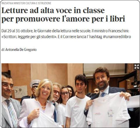 http://www.corriere.it/scuola/14_ottobre_01/letture-ad-alta-voce-classe-promuovere-l-amore-libri-d587b454-4974-11e4-bbc4-e6c42aa8b855.shtml