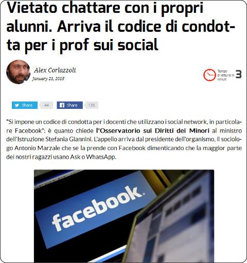 http://ischool.startupitalia.eu/33897/ischool-2/vietato-chattare-con-i-propri-alunni-arriva-il-codice-di-condotta-per-i-prof-sui-social/