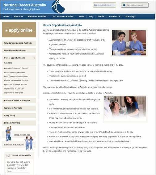 http://www.nursingcareersaustralia.com/nursing-careers/career-opportunities-in-australia/