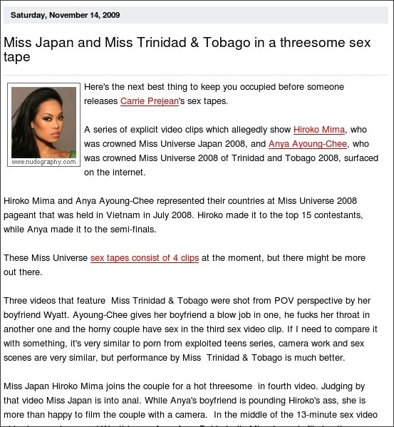 http://www.nudography.com/News.aspx?IDNews= Miss Japan and Miss Trinidad ...