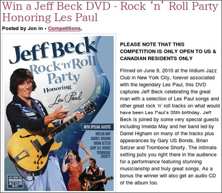 http://www.guitarnoize.com/blog/comments/win-a-jeff-beck-dvd-rock-n-roll-party-honoring-les-paul
