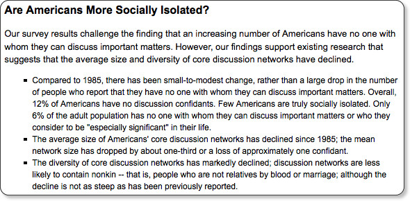 http://pewresearch.org/pubs/1398/internet-mobile-phones-impact-american-social-networks