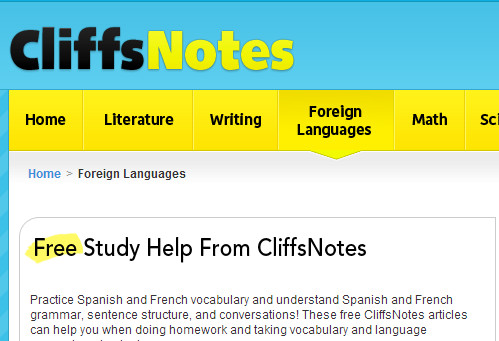 http://www.cliffsnotes.com/spanish-and-french-study-guides.html