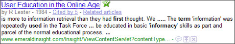 http://www.google.com.au/search?hl=en&client=firefox-a&rls=org.mozilla%3Aen-GB%3Aofficial&hs=ofO&q=Informacy+term+first+used&btnG=Search&meta=&aq=&oq=Informacy+term+first+use