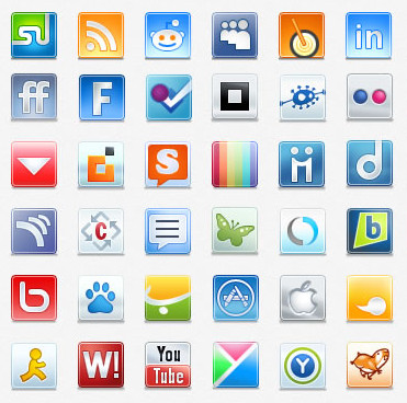 Download social icons set for free from designers website