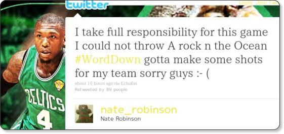 http://twitter.com/nate_robinson/status/18821793431158785