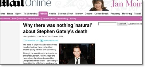 http://www.dailymail.co.uk/femail/article-1220756/Why-natural-Stephen-Gatelys-death.html