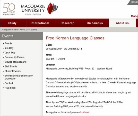 http://www.mq.edu.au/about/events/view/free-korean-language-classes/