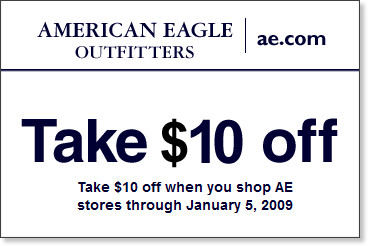 photo regarding American Eagle Coupons Printable referred to as American Eagle Printable Discount coupons 2010 Oct