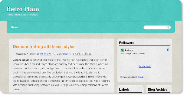 Best Plain Blogger Templates