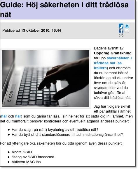 http://teknikkonsument.se/2010/10/13/guide-hoj-sakerheten-i-ditt-tradlosa-nat/