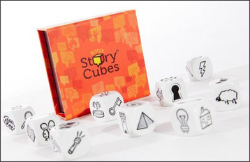 http://www.amazon.co.uk/Creativity-Hub-Rorys-Story-Cubes/dp/B003NFJMBM/ref=sr_1_1?s=kids&ie=UTF8&qid=1431438103&sr=1-1&keywords=story+cubes