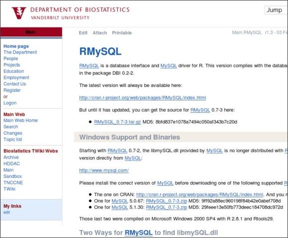 http://biostat.mc.vanderbilt.edu/twiki/bin/view/Main/RMySQL