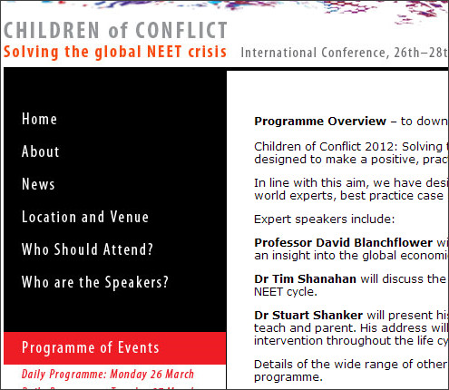 http://www.childrenofconflict2012.org/programmeofevents.html