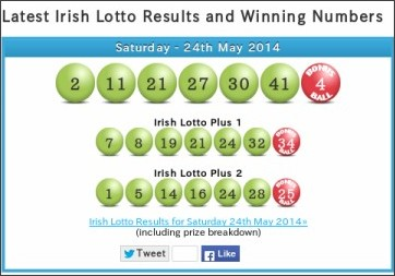 Irish lottery numbers results for tonight