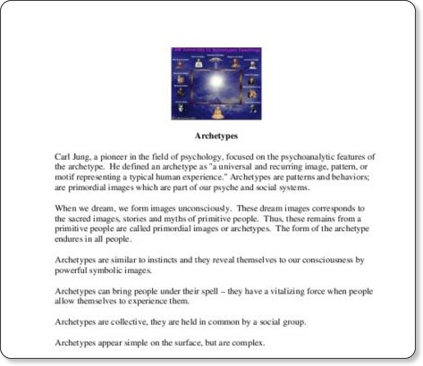 http://www.wtps.org/wths/imc/pathfinders/archetypes.pdf