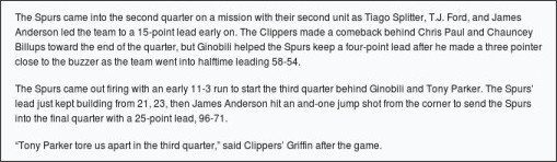 http://projectspurs.com/2011-articles/december/ginobili-blair-help-spurs-hand-clippers-first-loss-in-dominating-fashion.html