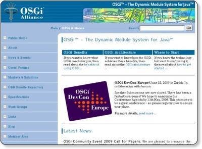 http://www.osgi.org/Main/HomePage
