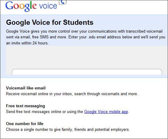 http://www.google.com/googlevoice/students.html
