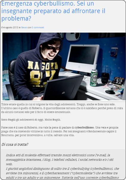 http://profdigitale.com/emergenza-cyberbullismo-sei-un-insegnante-preparato-ad-affrontare-il-problema/