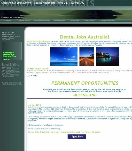 http://www.alliedhealth.com.au/Dental%20Jobs%20Australia.htm