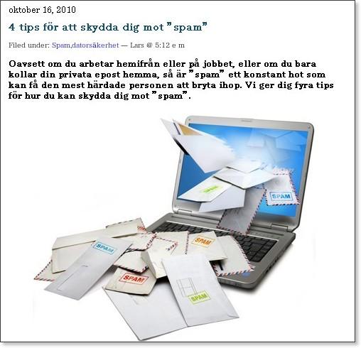 http://www.mjukvara.se/blogg/4-tips-for-att-skydda-dig-mot-spam/