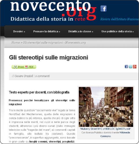 http://www.novecento.org/dossier/mediterraneo-contemporaneo/gli-stereotipi-sulle-migrazioni/