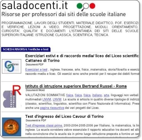 http://www.saladocenti.it/verifiche.htm