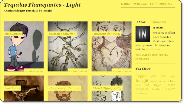 Yellow Phot Blog Template