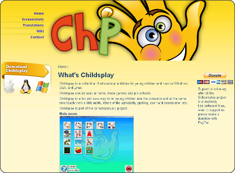 http://childsplay.sourceforge.net/index.php