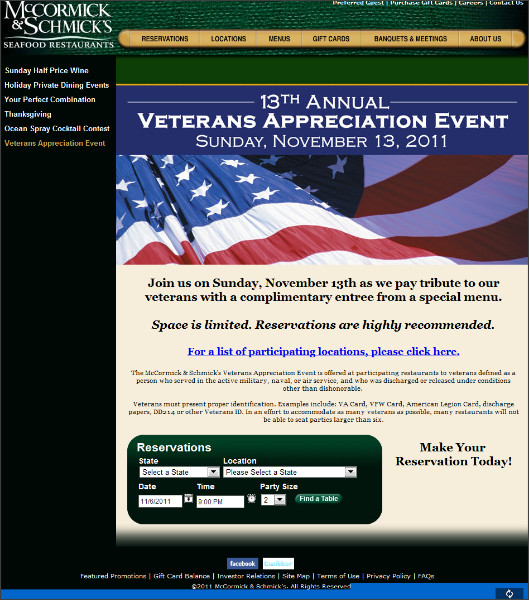 http://www.mccormickandschmicks.com/featured-promotion/Veterans-Appreciation-Event.aspx