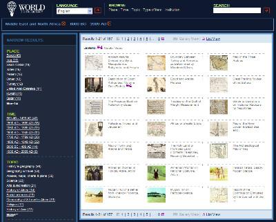 http://www.wdl.org/en/search/gallery?&r=MiddleEastNorthAfrica&a=-8000&b=2009