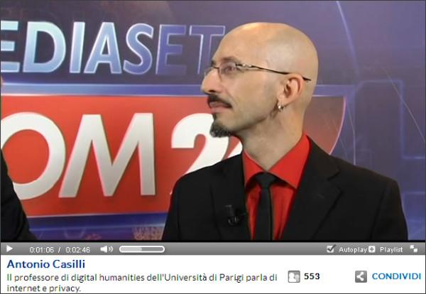 Antonio Casilli Mediaset