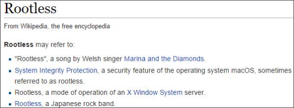 https://en.wikipedia.org/wiki/Rootless