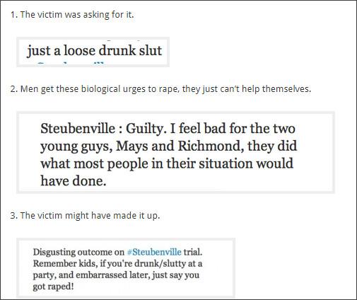 http://msmagazine.com/blog/2013/05/28/rape-splaining-10-examples-of-victim-blaming/